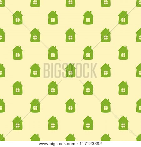 Pattern With Cartoon Houses