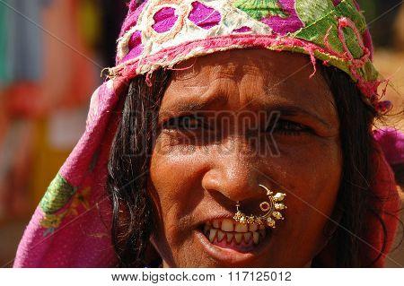 Street Portrait Of Goan Woman
