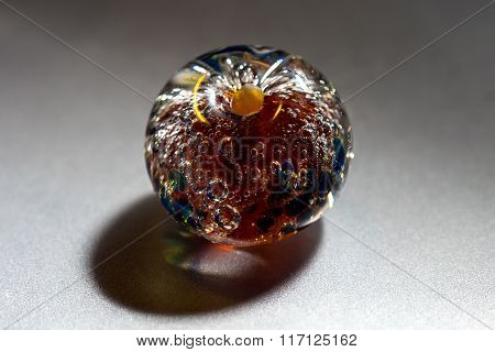 Macro shooting of glass bead