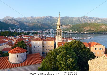 Old Town And Cathedral Of St. John Baptist, Budva, Montenegro