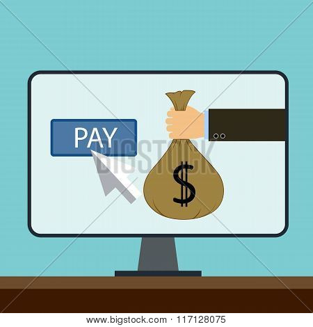 Online Payments. Flat Graphic.