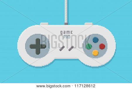 Gamepad Pixel Art Illustration
