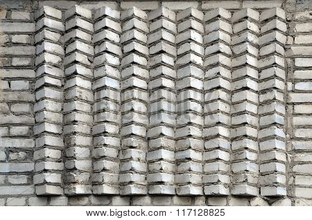 Wall of white bricks