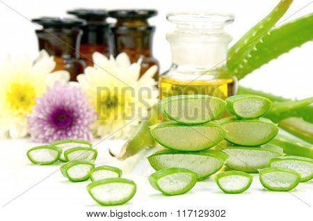 Aloe Vera Hair And Facial Treatment Ingredients.