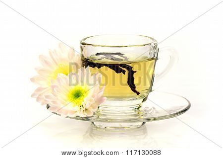 Chinese Tea With Chinese Herbal Medicine.