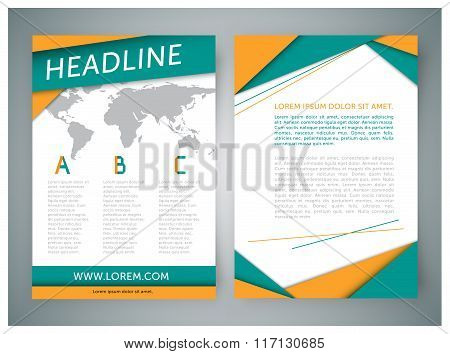 Abstract vector background for brochure theme style, cover, booklet, flyer, blank. Corporate brochur