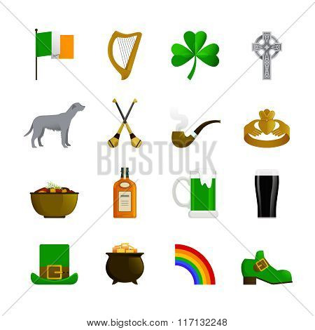 Ireland Flat Color Icons