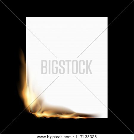 Burning White Sheet