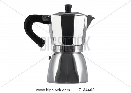 Italian Coffee Maker Isolated On White