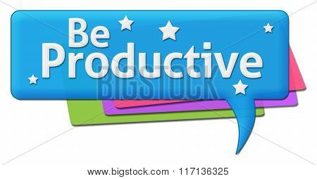 Be Productive Colorful Comment Symbols