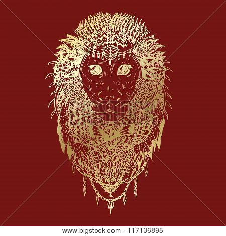 Graphic vector monkey abstract design