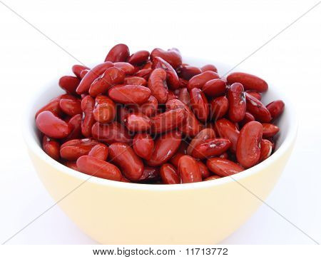 Red Beans In Yellow Bowl