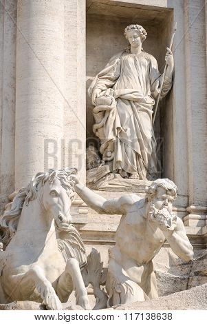 Rome Monument - Trevi Fountain (fontana Di Trevi).