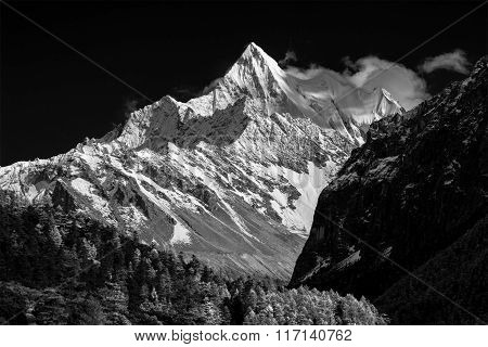 Mountain Peak In Monotone