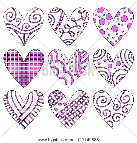 Pink And White Heart Collection