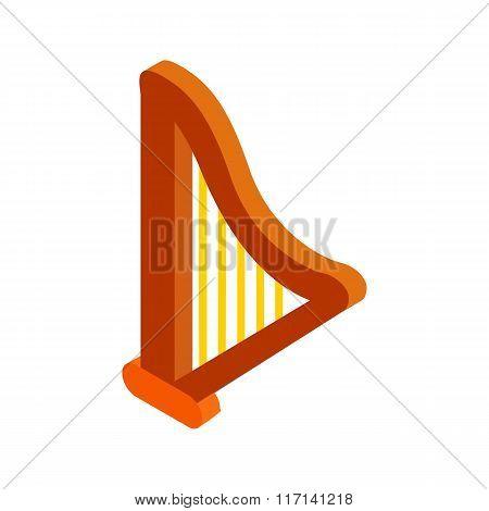Harp isometric 3d icon