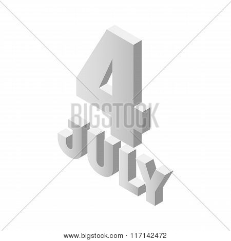 The fourth of july independence day isometric icon