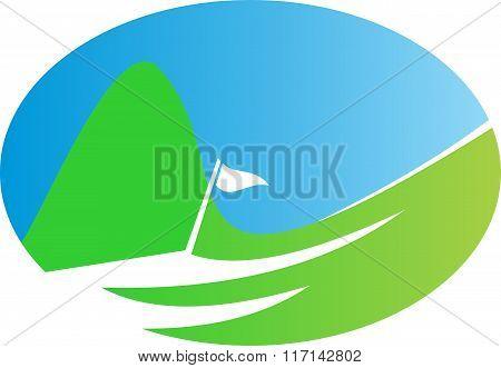 stock logo golf field