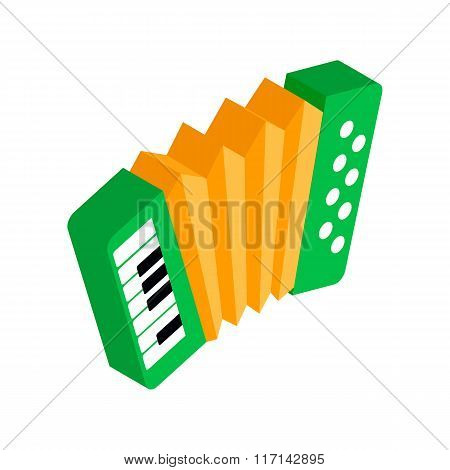 Green accordion with yellow bellows icon