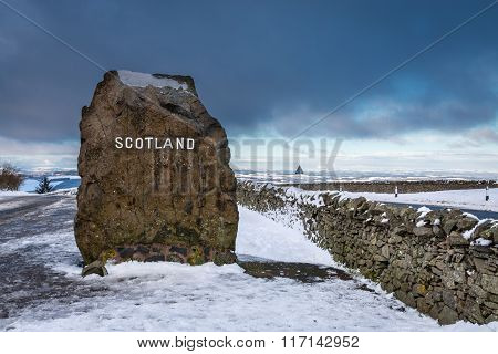 Scottish Border Marker Stone