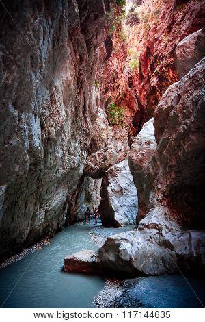 Tourists In Saklikent Gorge In Turkey