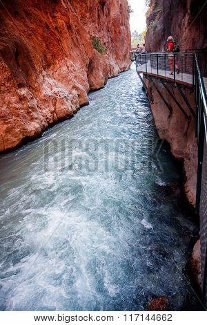 River in Saklikent Turkey