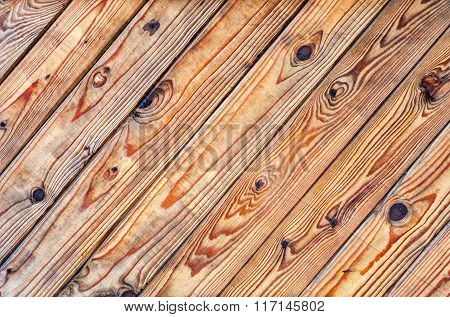 Wooden Planks With Natural Patterns As Background
