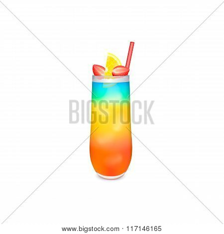 Colorful layered cocktail