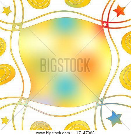 Colorful abstract background with stars