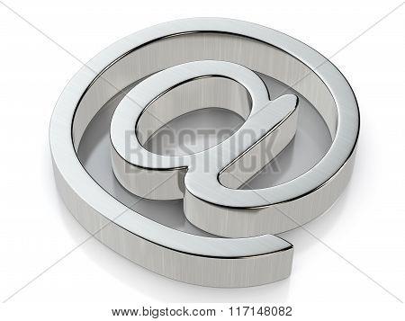 Metallic Email Symbol