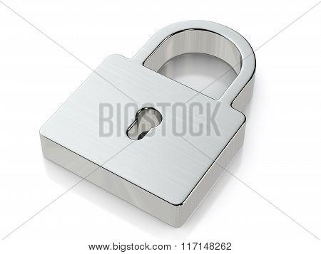 Metallic Padlock Symbol
