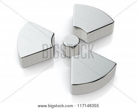 Metallic Radiation Symbol