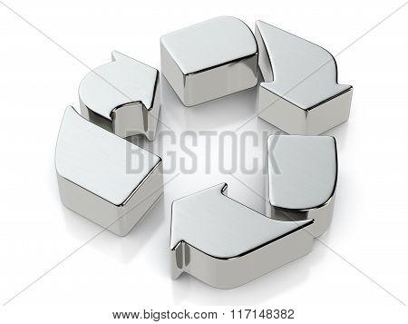 Metallic Recycle Symbol