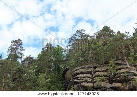 Rocks And Mountains In Kirnitzsch Valley, Saxon Switzerland