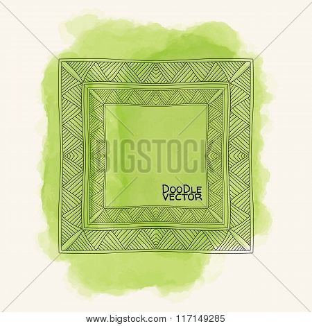 Abstract Background With Watercolor Element.