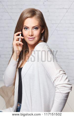 Pretty Woman Having A Phone Call