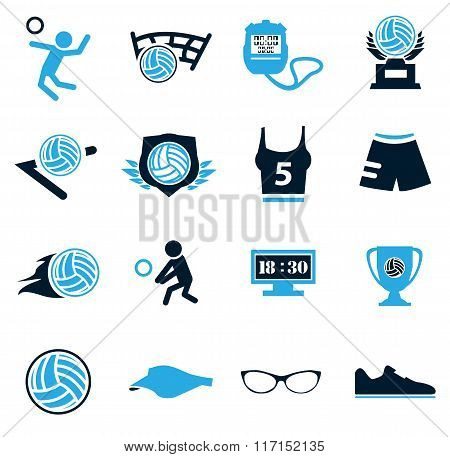 Volleyball icon set