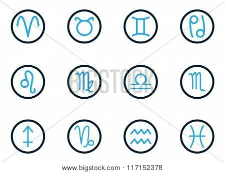 Zodiac icon set