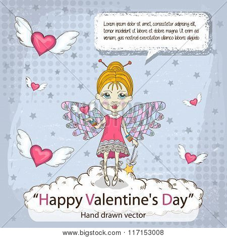 Valentines card with message