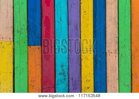 Multi-colored Wooden Floor Boards. Backgrounds And Textures