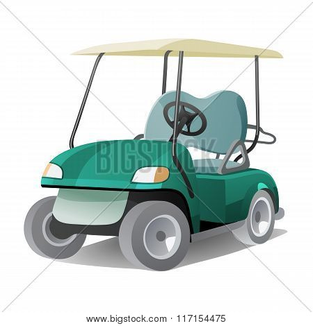 Golf Cart With Shadow