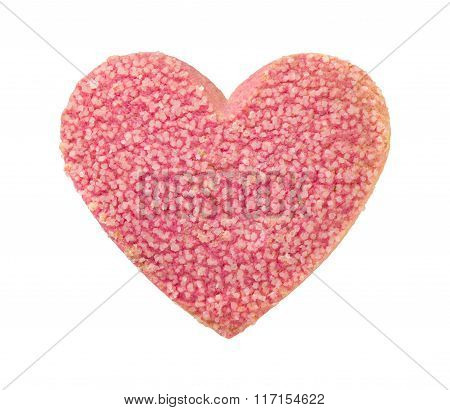 Valentine Heart Shaped Cookie With Sugar Sprinkles