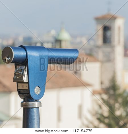 Coin Operated Telescope For Sightseeing.
