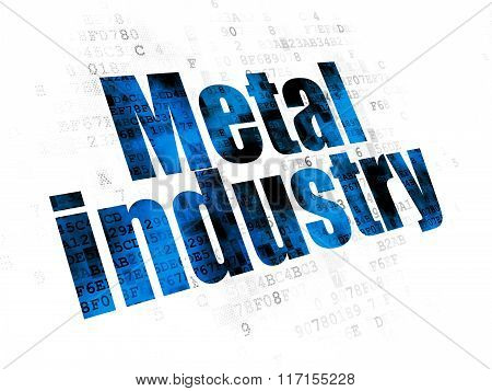 Industry concept: Metal Industry on Digital background