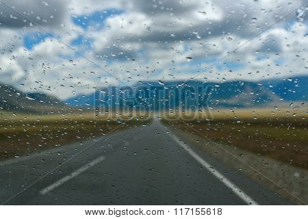 Water Drops Window Rain Car