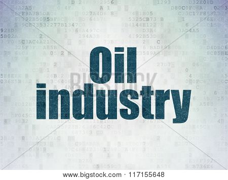 Industry concept: Oil Industry on Digital Paper background