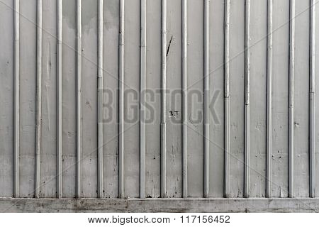 Gray Old Wall Made Of Wood