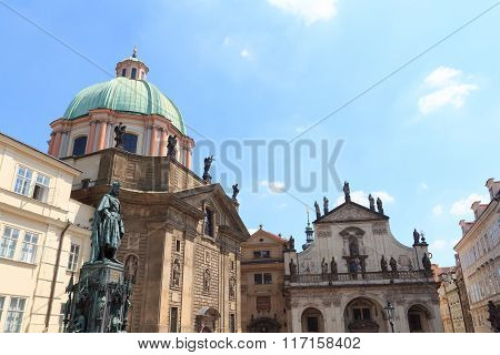 St. Francis Knights Of The Cross Church And St. Savior Church In Prague