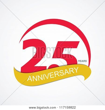 Template Logo 25 Anniversary Vector Illustration
