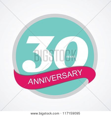 Template Logo 30 Anniversary Vector Illustration